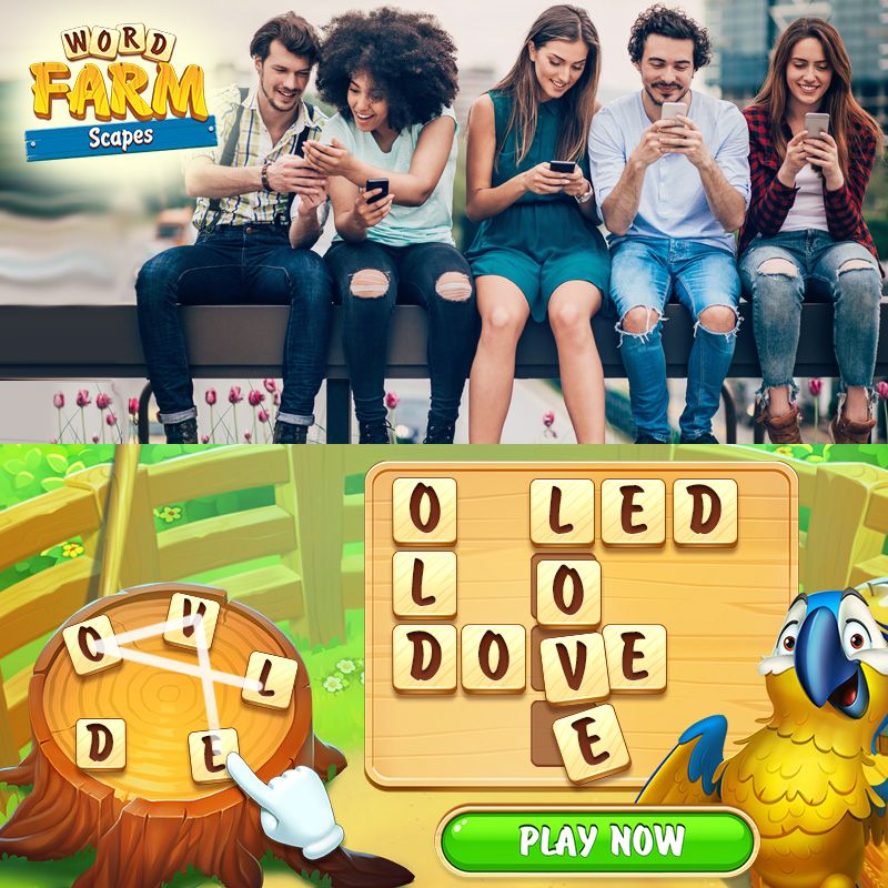 Word Farm Scapes Game For Young Adults