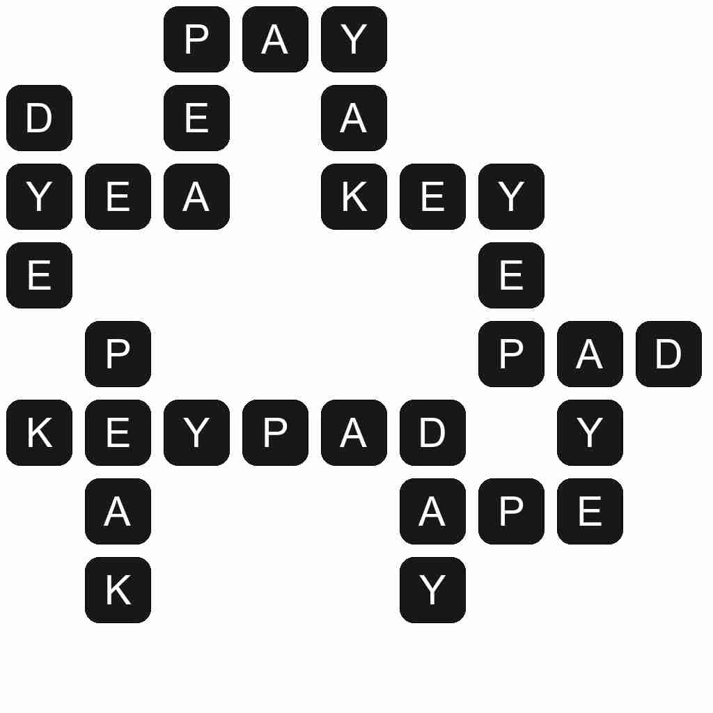 Wordscapes level 2773 answers