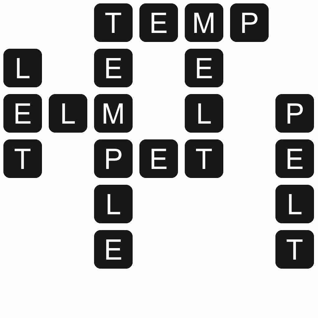 Wordscapes level 5609 answers